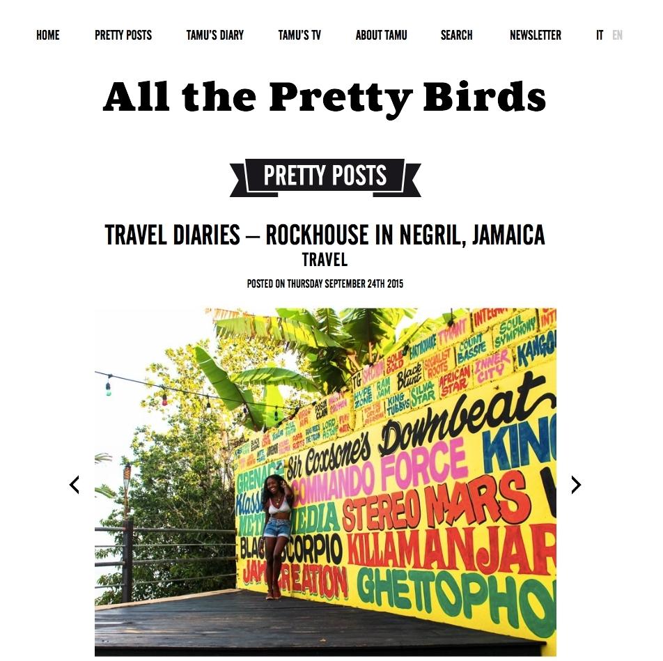 All the Pretty Birds September 2015