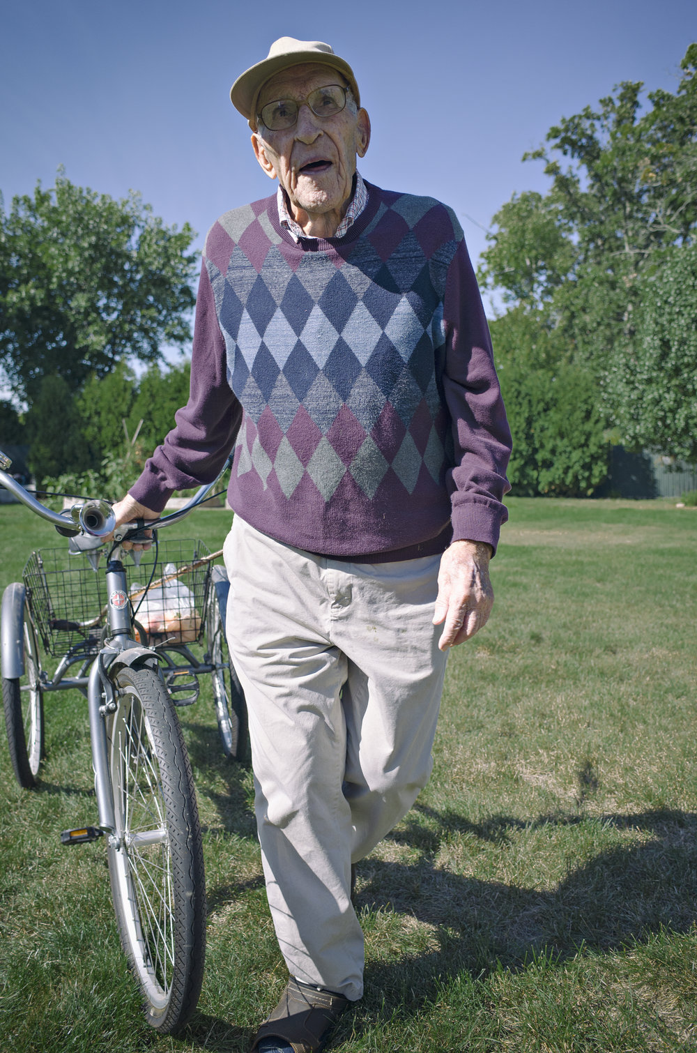 Here's my grandpa- 94 years young and still riding a bike.