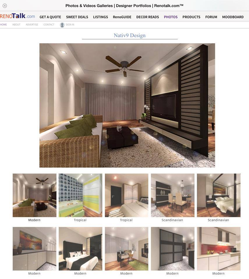 We are on Renotalk NATIV Concept Interior Design
