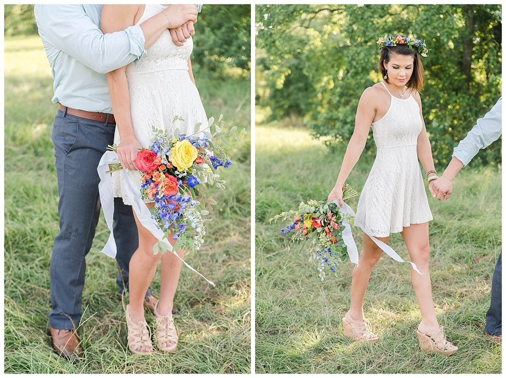 summer engagement flower crown texas abby ann photography