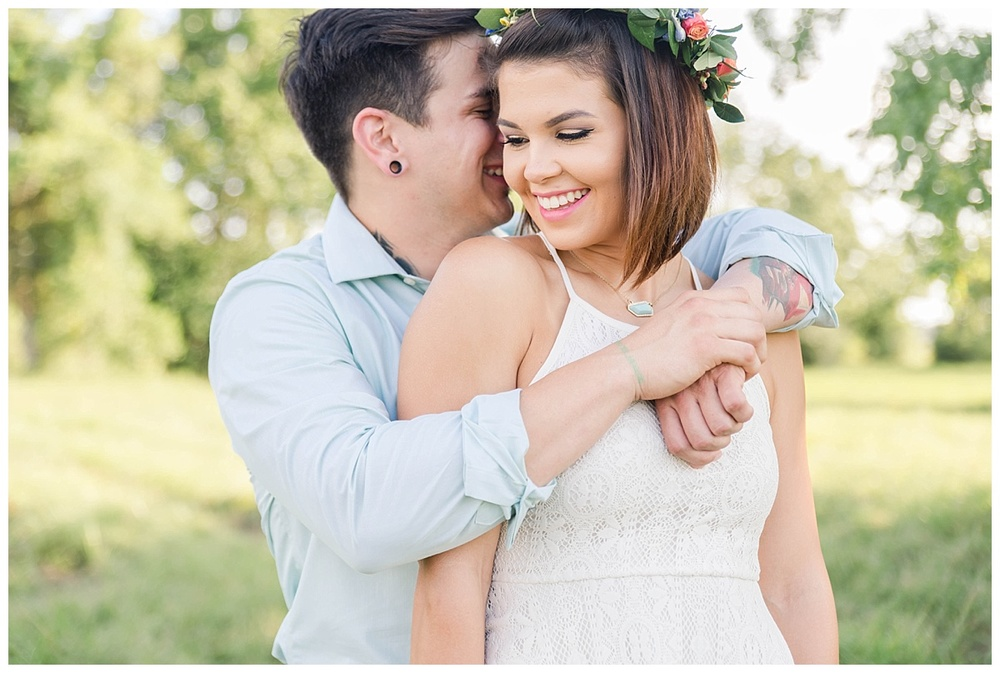 summer flower crown texas engagement