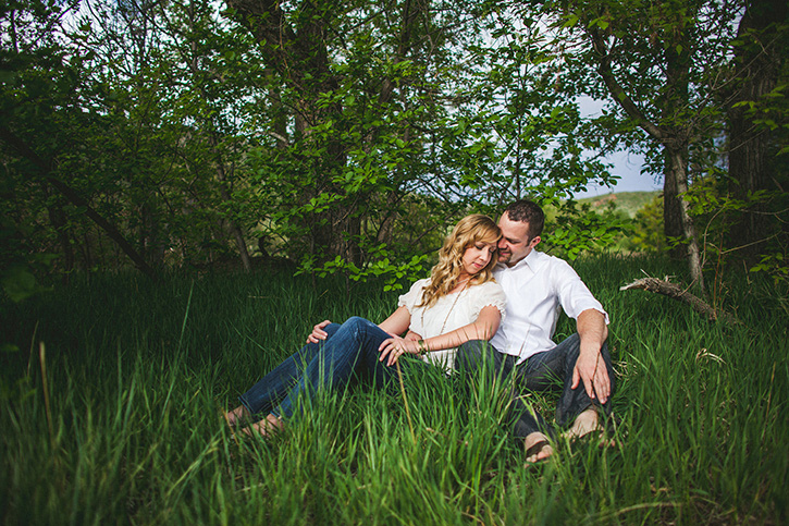 Rocky Mountain Engagement Spring Grass
