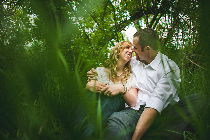 Rocky Mountain Engagement Love in the Grass