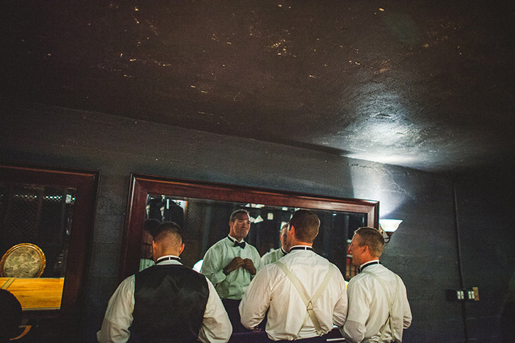 Dunafon Castle Wedding grooms men