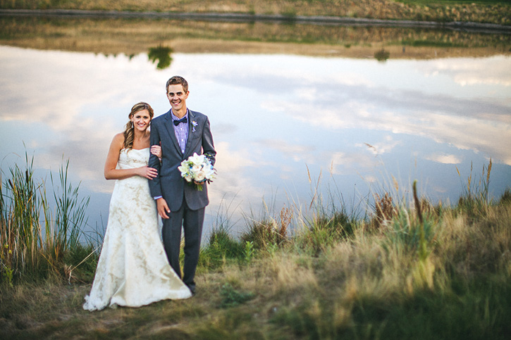 Broomfield Wedding Photographer reflection pond