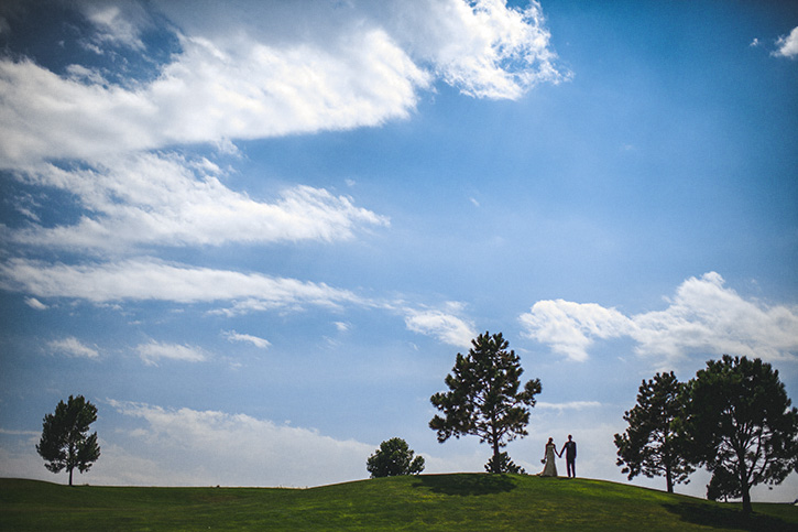 Broomfield Wedding Photographer blue sky clouds