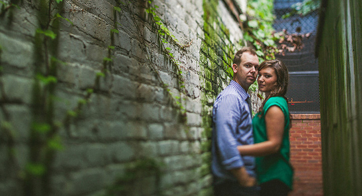 Denver Wedding Photographer Alleyway