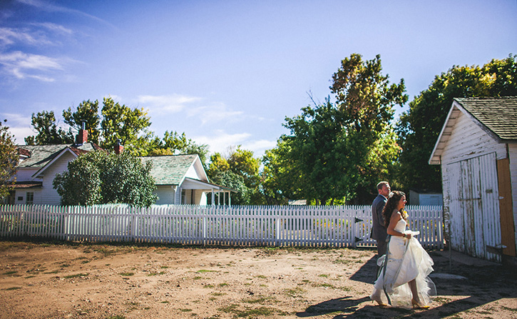 Denver Botanic Gardens Wedding walk