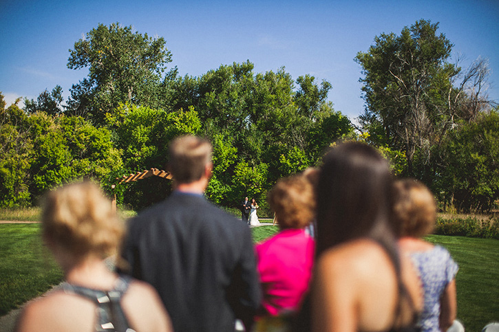 Denver Botanic Gardens Wedding bride walk