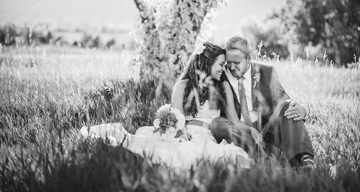 Denver Botanic Gardens Wedding Tree Cuddle
