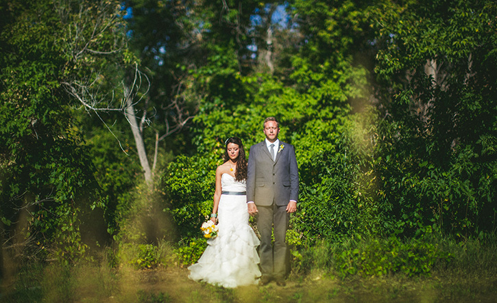 Denver Botanic Gardens Wedding Tan