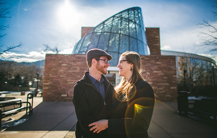 Denver Wedding Photographers Sun Flare