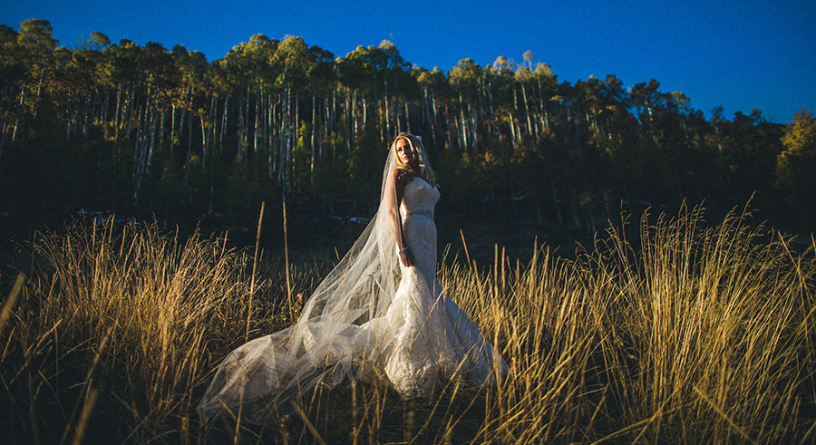Awesome Bridal Portrait at Piney Lake
