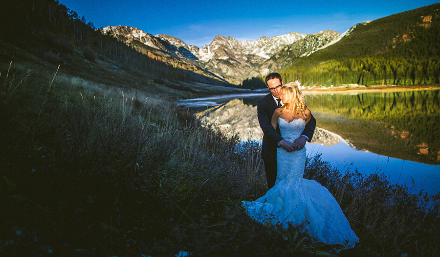 Piney Lake Wedding Portrait