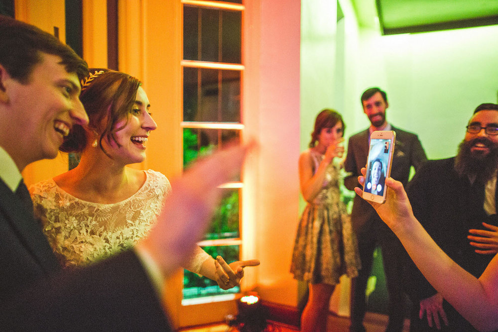 wedding couple facetime