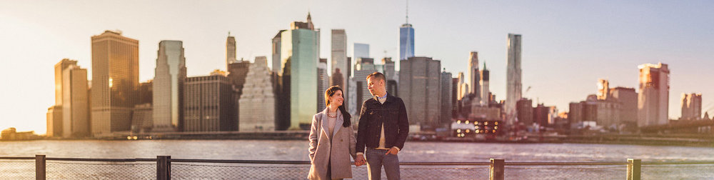 New York City Skyline Engagement session adam Christine