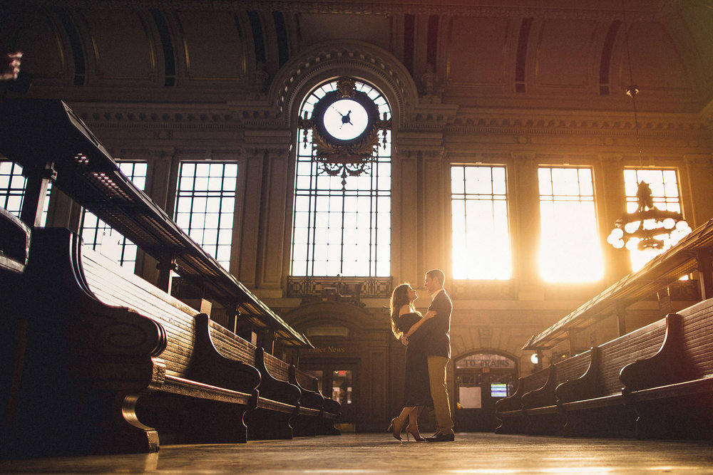 Hoboken Terminal Engagement Session Sunlight