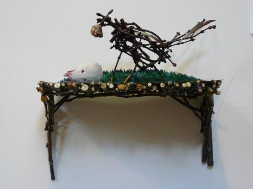 Robber bird, mixed media, 2012