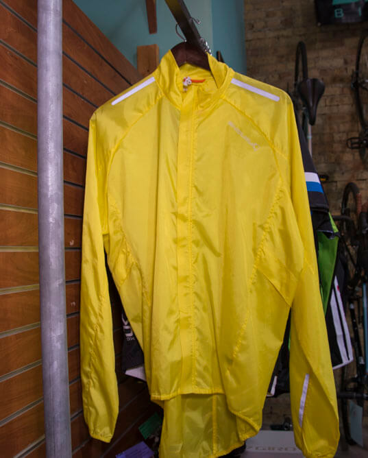 yellow bike jacket