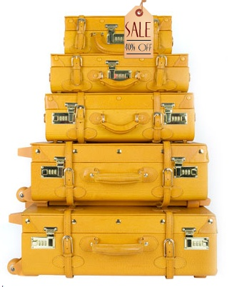 Don't you just love the fun of this yellow trunk-style luggage? Vintage flair with modern style.