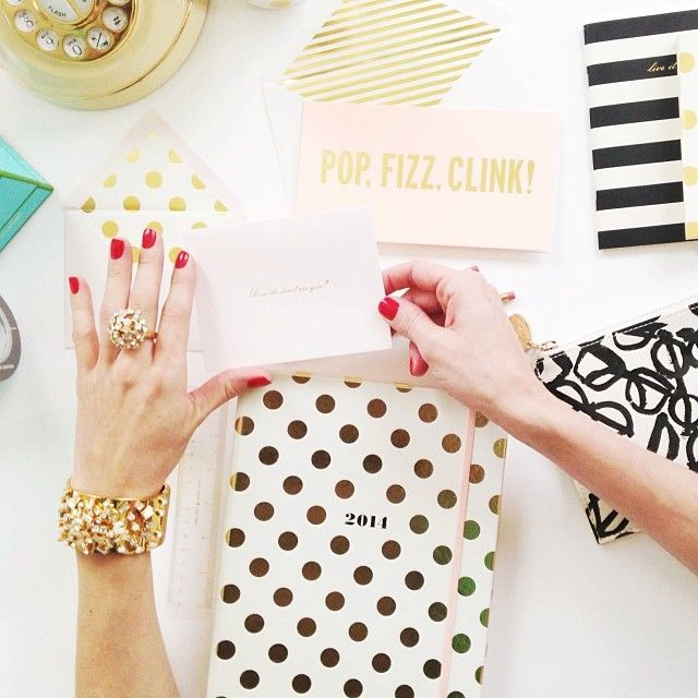 kate spade new york stationery , planners, agendas and journals are available at The Organizing Store.