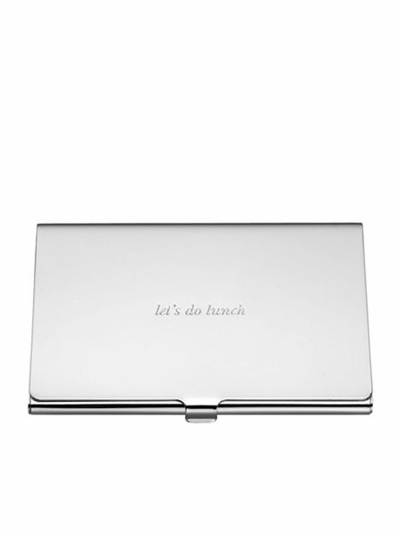 http://theorganizingstore.com/kate-spade-new-york-silver-street-business-card-holder-let-s-do-lunch.html