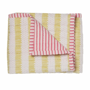 Pehr Designs Pink/Citron Quilted Nursery Blanket