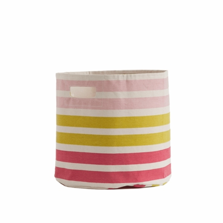 Pehr Designs 3-Stripe Pink + Green Storage Bin