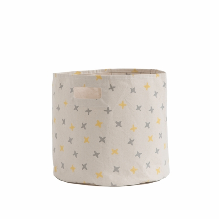 Petit Pehr Grey/Yellow Jacks Storage Bin