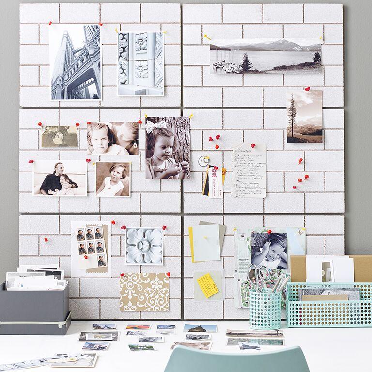 Brick Wall Memo Board by Design Ideas