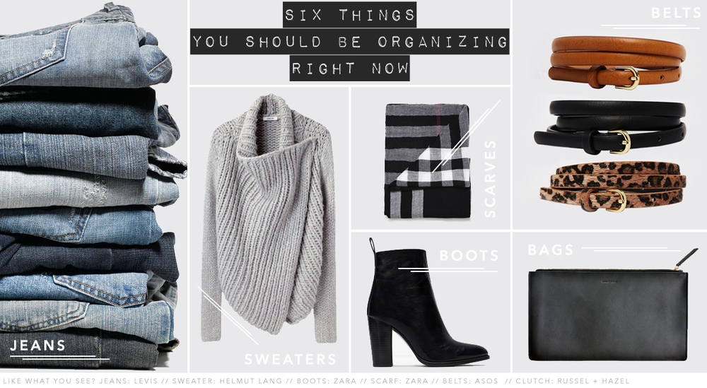Images courtesy of:  Levi's  //  Helmut Lang  //  Zara  //  ASOS  //  The Organizing Store