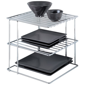 Chrome 3-Tier Corner Shelf