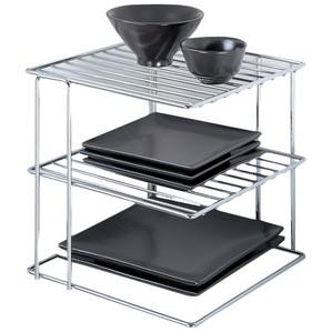 Chrome 3-Tier Corner Shelf