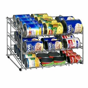 Chrome 3-Tier Can Rack
