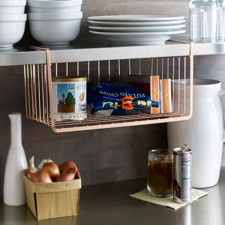Lincoln Under-shelf Copper Organizer