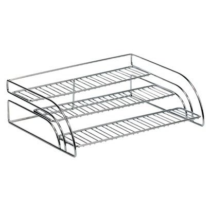 Chrome Tiered Shelf Organizer