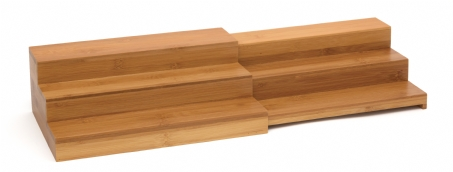 Bamboo Expandable Step Shelf