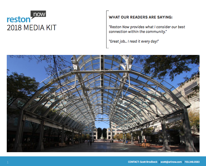 Reston Now Media Kit