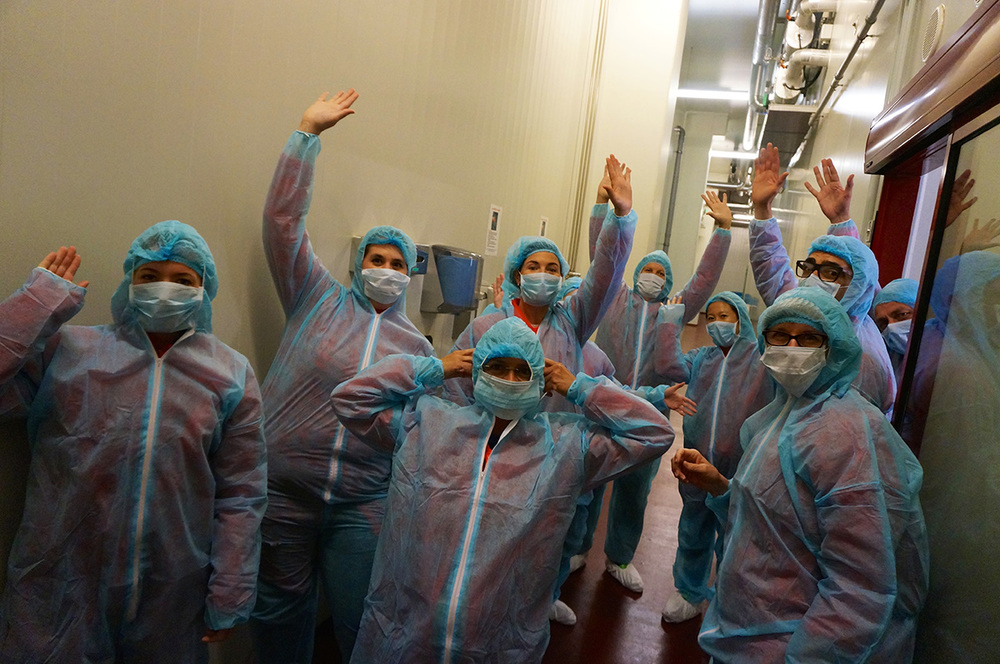 Our hot outfits to check out the prosciutto making facilities.