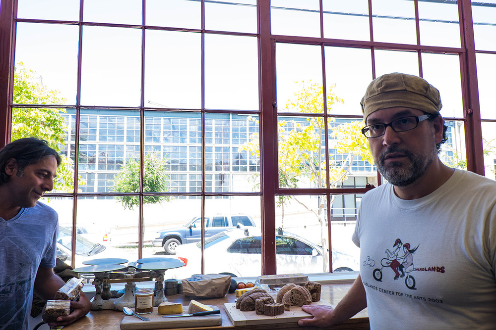 Eduardo explaining his breads.