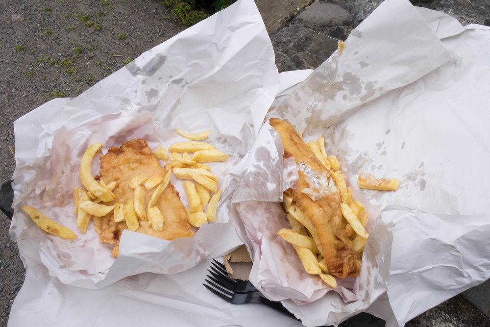 Our first meal in Ireland - Leo Burdock's Fish and Chips.