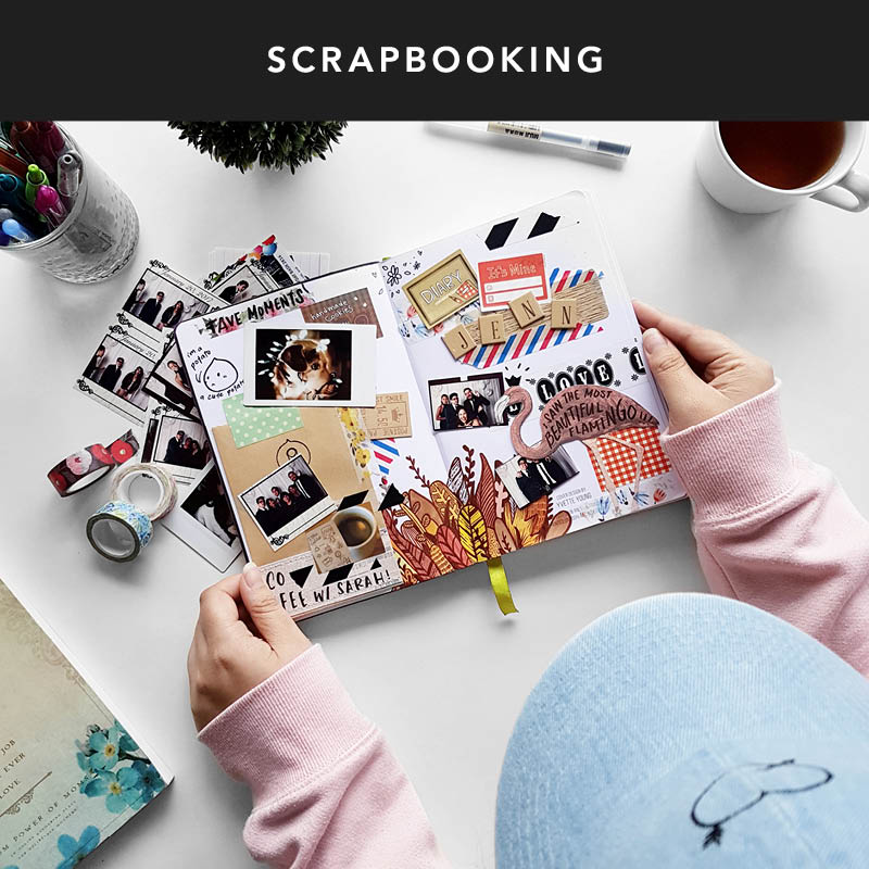 Print out pictures and throughout the year, put them on the front page or throughout your planner. By the end of the year, you'll have your very own scrapbook summing up your whole year and the amazing moments captured.