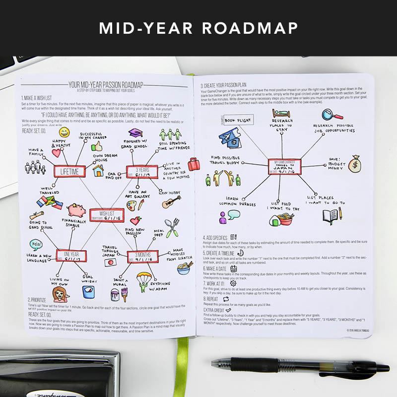 Don't forget to use your mid-year Passion Roadmap and define your future goals on paper. That 15 minutes you spend can change your life completely! Use it to prioritize which goals would make the most positive impact in your life. Many times people look back at their Passion Roadmaps and have subconsciously reached their goals, but the first and most important step is concretely deciding what you want on paper!