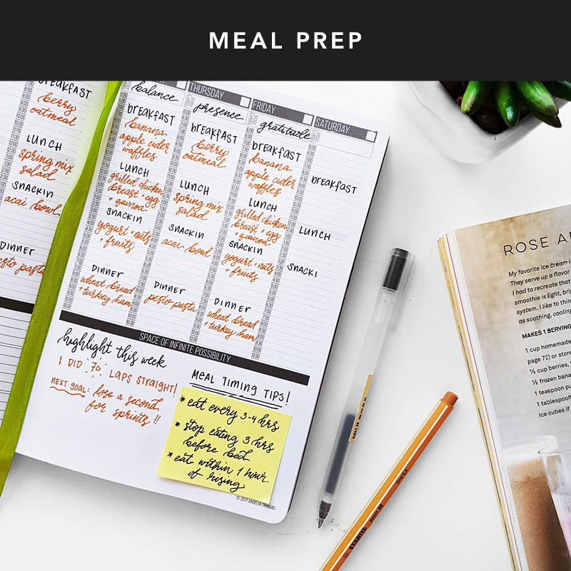 Plan your workouts & meal prep days in your Passion Planner. 3 reasons why a workout log is important: 1) Seeing the big picture helps stay motivated 2) Stay consistent with your goals 3) Keep track of best personal workout record