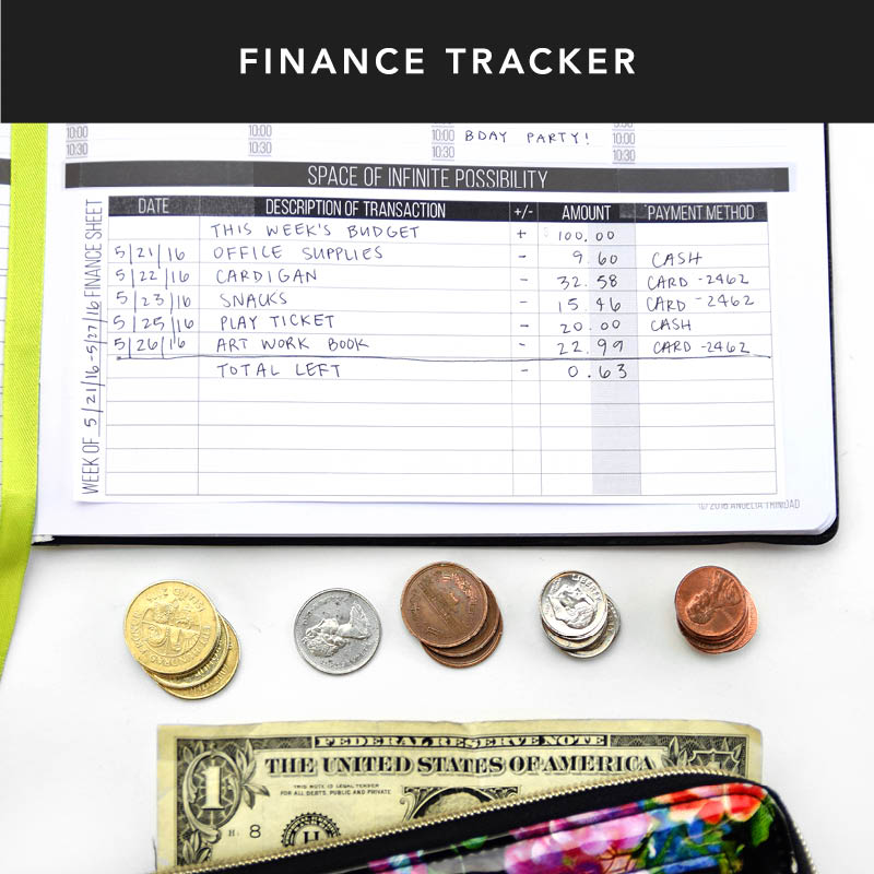 Need help tracking your expenses? Here's 3 simple & helpful tips to help you manage your finances: 1) Click to download our finance sheet to track your budget 2) Use the anti-rip fabric back pocket of your Passion Planner to keep receipts in one place. 3) Create a weekly budget and challenge yourself to stick to it!