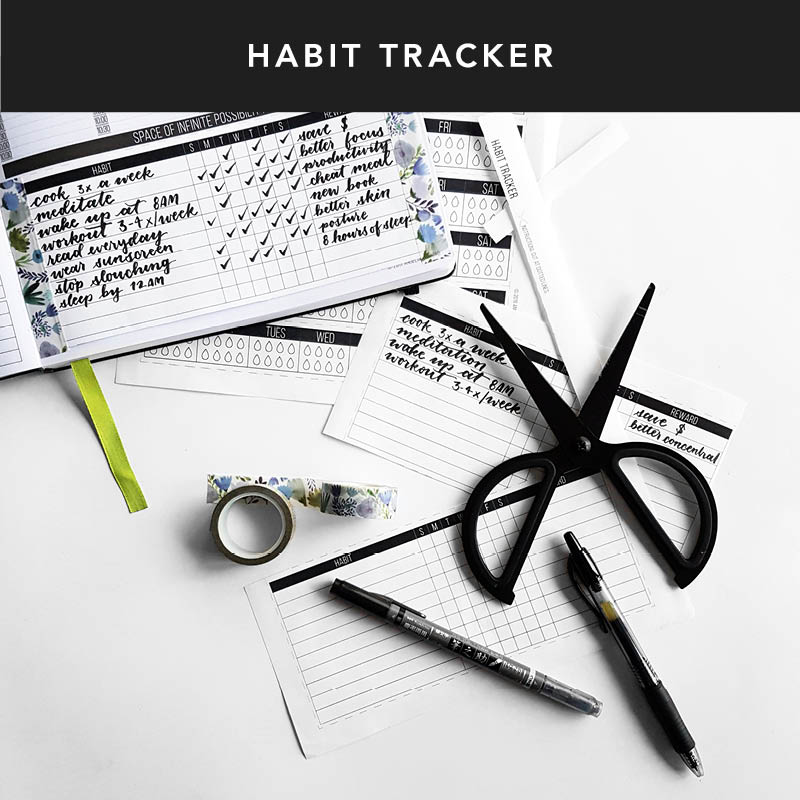 Build up those good habits or break those bad habits with our habit tracker! Click here to print it out for your planner.