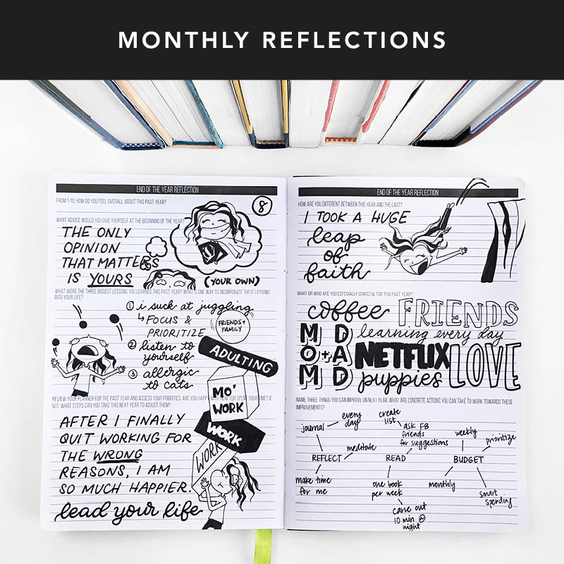 When it comes to the first one of the month, turn back the pages and reflect on the past month. Don't forget that our past is there for us to learn from. Make this month even better than the last!