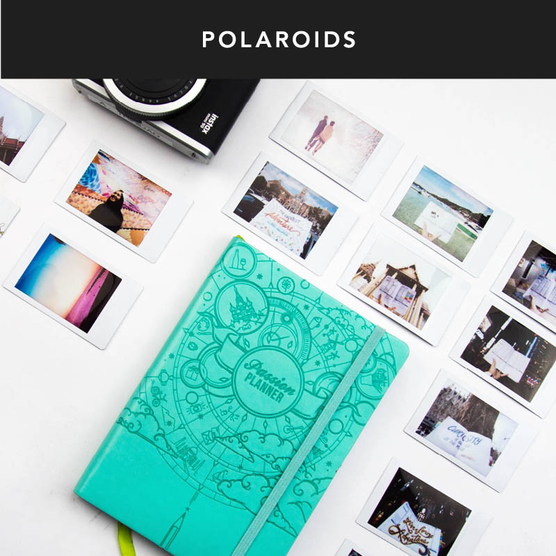 Polaroids are one of the greatest ways to look back on your year.  You can also print little photos to tape into your week as well.