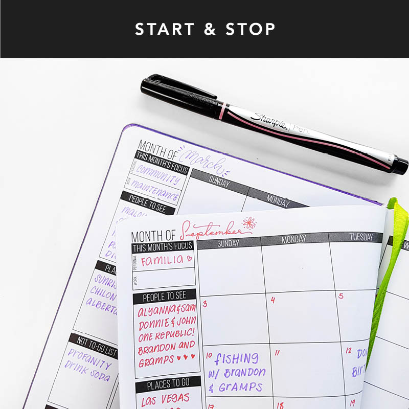 If you're not naturally a planner person, getting used to planning can be hard! One of the great things about getting an undated planner is that you can start or stop whenever, skip weeks, or even months! Your planner doesn't go to waste and neither does your time!