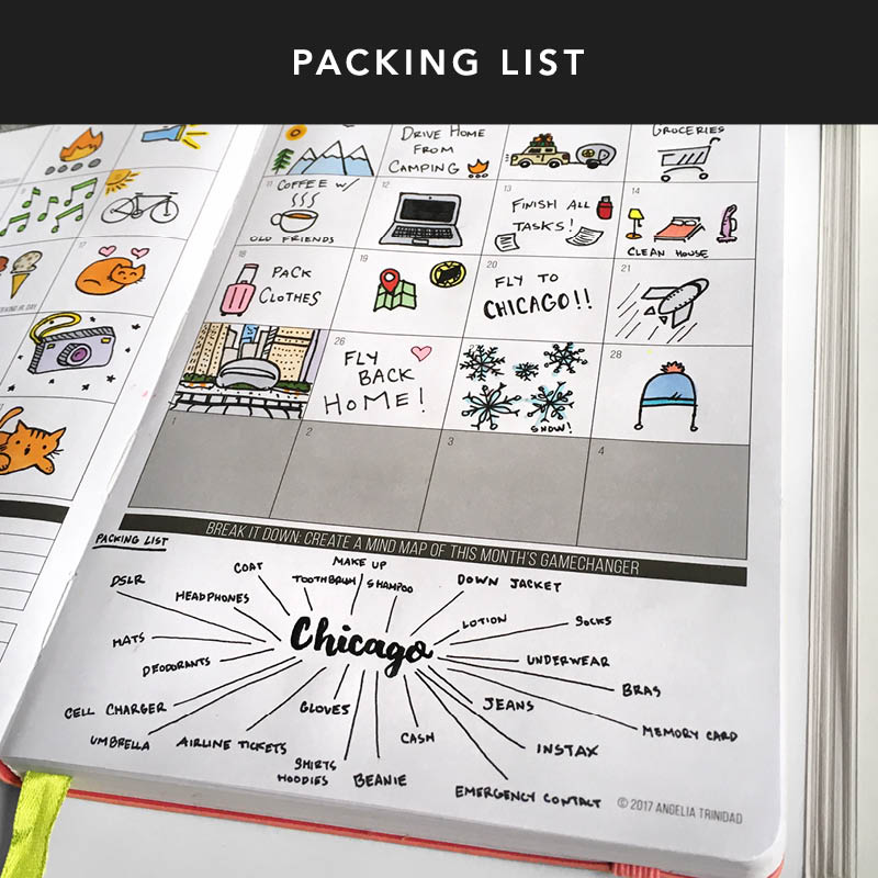 Traveling this month? Create a mindmap of all your travel essentials and everything that you have to do to get ready for your trip! A mindmap is a great way for you to make sure you don't forget anything important.